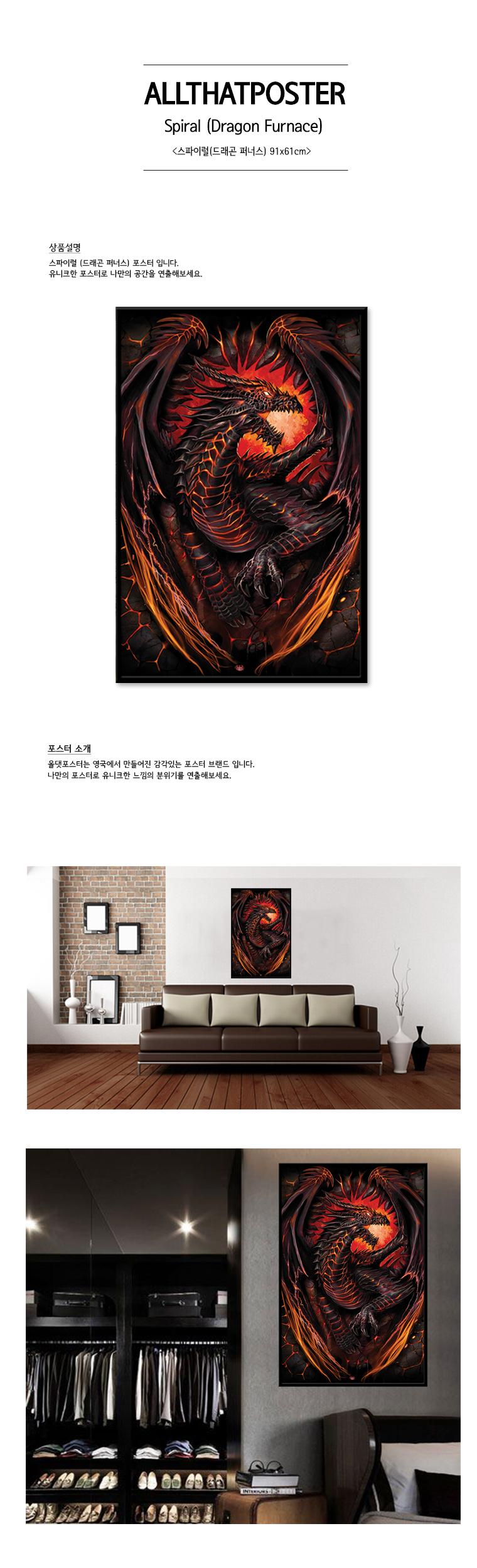 PP33466 Spiral 스파이럴(드래곤 퍼너스)(61x91) - 집잇, 15,000원, 홈갤러리, 포스터
